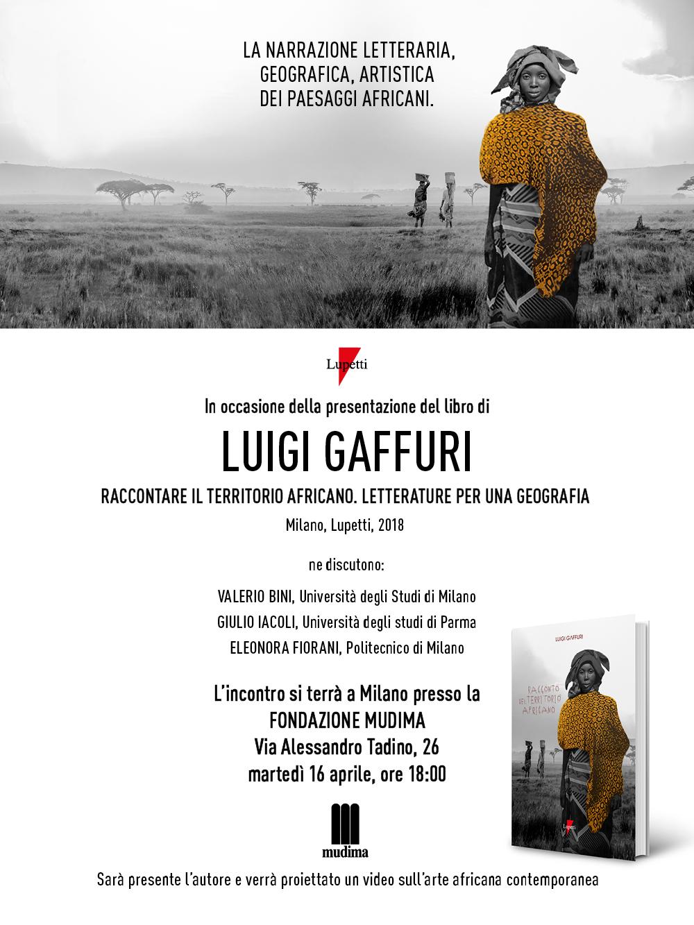 GAFFURI - Invito presentazione libro Africa a Milano